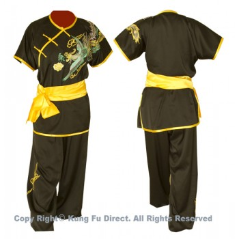 UC523 - Black Uniform with Phoenix Embroidery